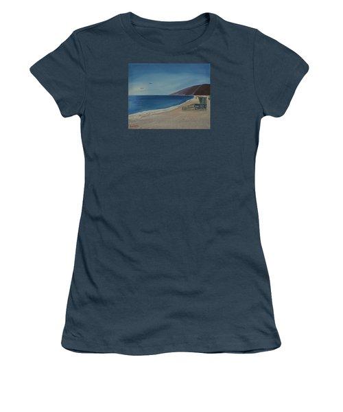 Zuma Lifeguard Tower Women's T-Shirt (Junior Cut) by Ian Donley