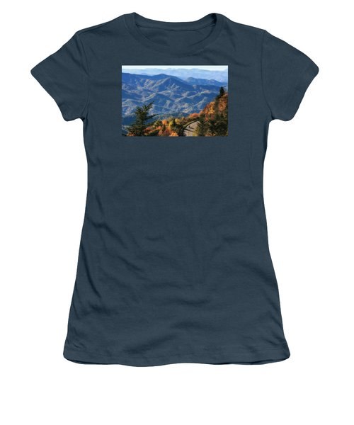 Autumn On The Blue Ridge Parkway Women's T-Shirt (Junior Cut) by Lynne Jenkins