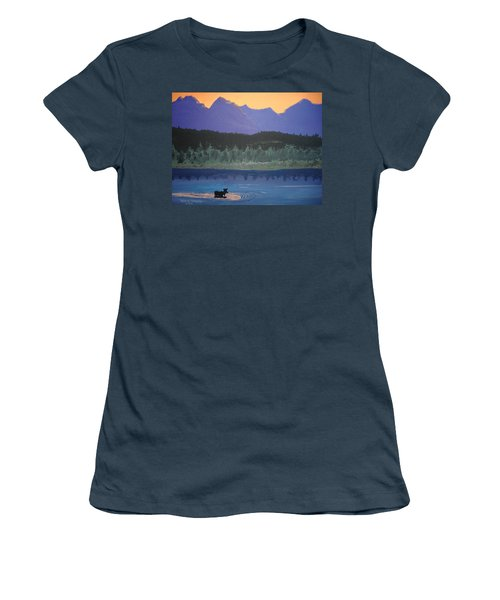 Women's T-Shirt (Junior Cut) featuring the painting Big Sky Country by Norm Starks