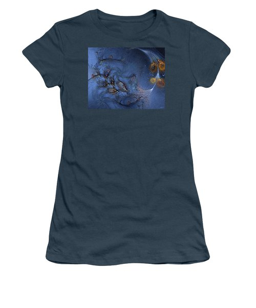 Women's T-Shirt (Junior Cut) featuring the digital art Birth Of The Cool by Casey Kotas