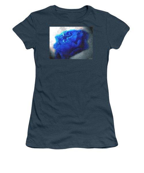 Women's T-Shirt (Junior Cut) featuring the digital art Blue Rose by Debbie Portwood