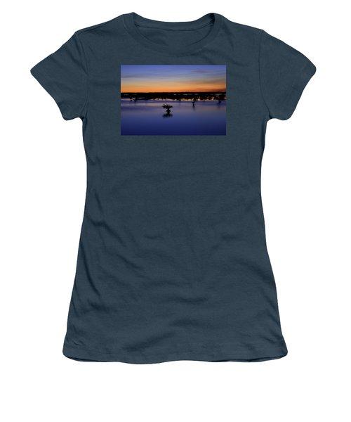 Blue Sunset Mangroves Women's T-Shirt (Junior Cut) by Rich Franco