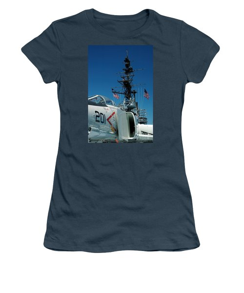 F4-phantom On The Deck Women's T-Shirt (Junior Cut) by Micah May
