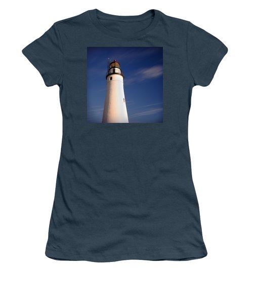 Women's T-Shirt (Junior Cut) featuring the photograph Fort Gratiot Lighthouse by Gordon Dean II