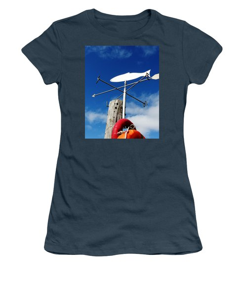 Women's T-Shirt (Junior Cut) featuring the photograph Gone Fishing by Charlie and Norma Brock