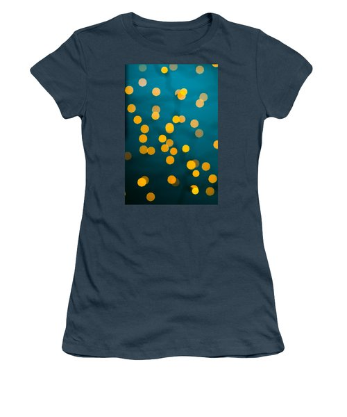 Green Background With Gold Dots  Women's T-Shirt (Junior Cut) by Ulrich Schade