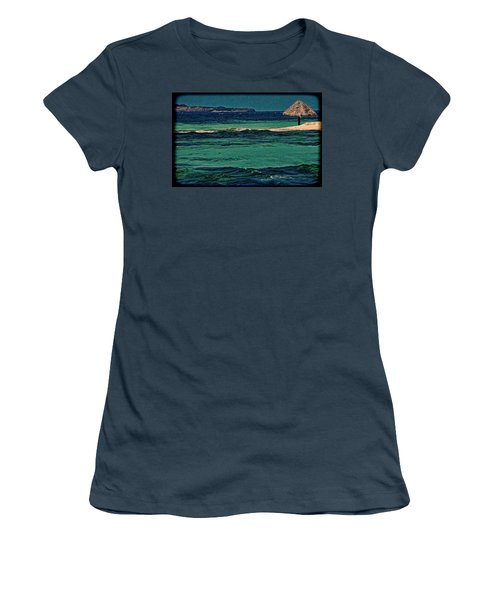 Women's T-Shirt (Junior Cut) featuring the photograph Grenadines Umbrella by Don Schwartz