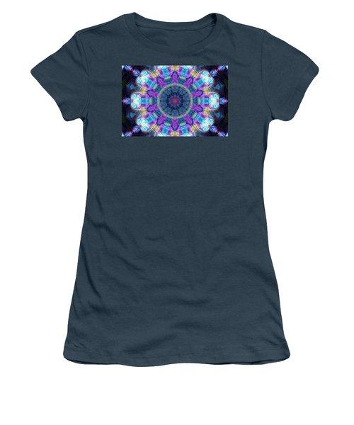 Magic Snowflake Women's T-Shirt (Junior Cut) by Alec Drake
