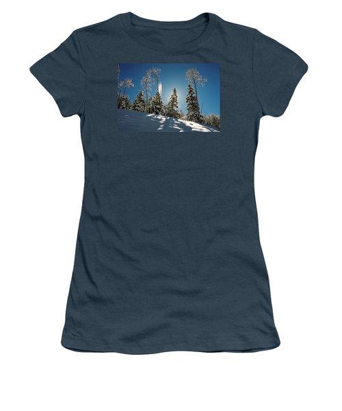 New Fallen Snow Women's T-Shirt (Athletic Fit)
