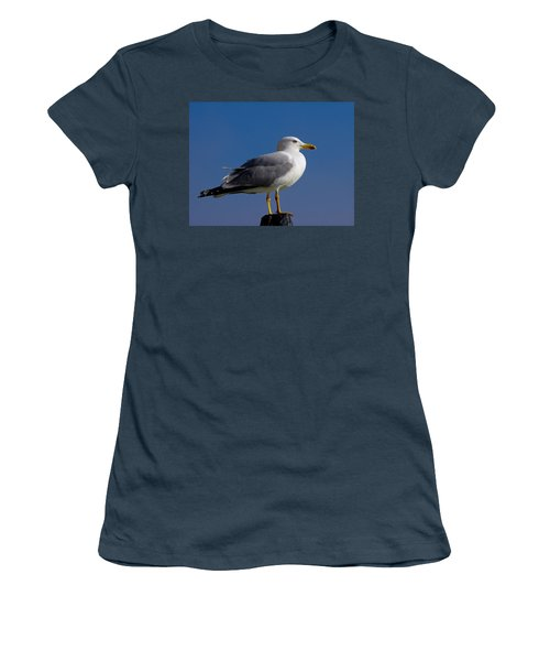 Women's T-Shirt (Junior Cut) featuring the photograph Seagull by David Gleeson