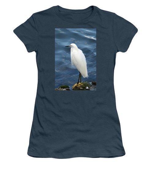 Snowy Egret 1 Women's T-Shirt (Junior Cut) by Joe Faherty