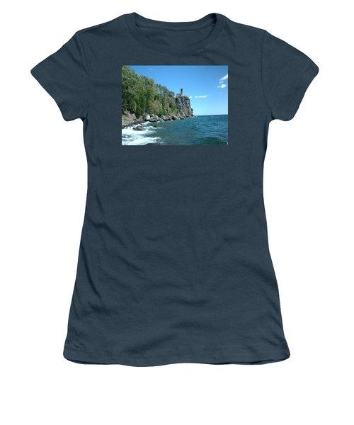 Women's T-Shirt (Junior Cut) featuring the photograph Split Rock by Bonfire Photography