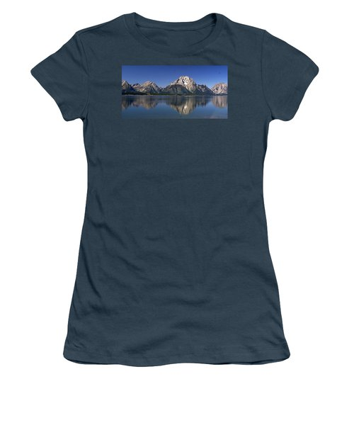 Women's T-Shirt (Junior Cut) featuring the photograph Teton Panoramic View by Marty Koch