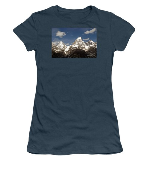 Teton Tips Women's T-Shirt (Junior Cut) by Living Color Photography Lorraine Lynch