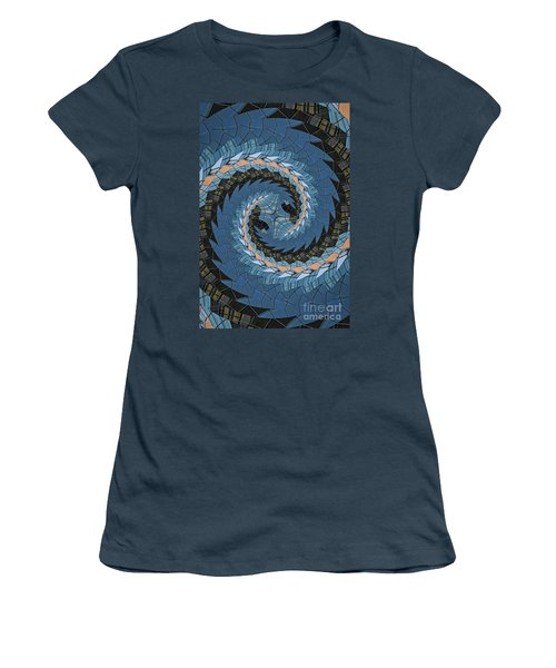 Women's T-Shirt (Junior Cut) featuring the photograph Wave Mosaic. by Clare Bambers