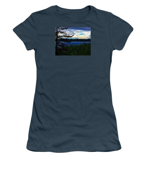 Women's T-Shirt (Junior Cut) featuring the photograph  Chrystal Blue Waters by B Wayne Mullins