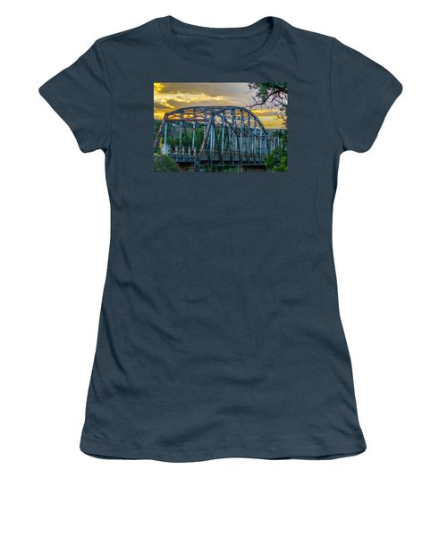 Women's T-Shirt (Junior Cut) featuring the photograph Bridge by Jerry Cahill