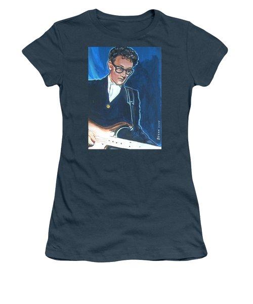 Buddy Holly Women's T-Shirt (Junior Cut) by Bryan Bustard