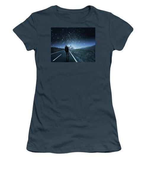 Dreams Women's T-Shirt (Junior Cut) by Berebel Co By Angel Caulin