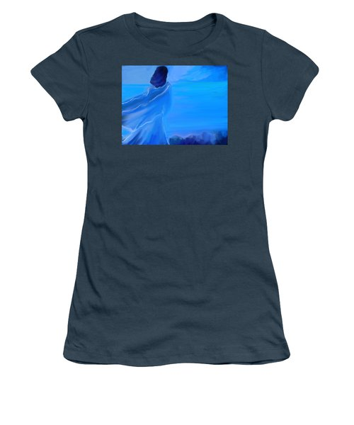En Attente Women's T-Shirt (Junior Cut) by Aline Halle-Gilbert