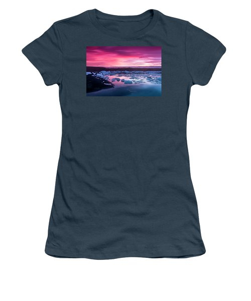 Iceberg In Jokulsarlon Glacial Lagoon Women's T-Shirt (Junior Cut) by Joe Belanger