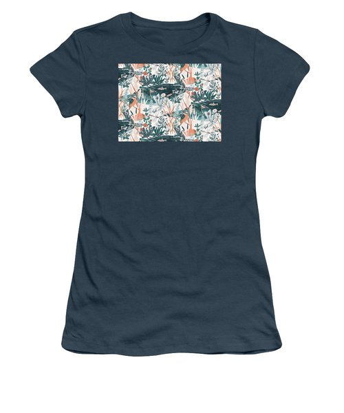 Kingfisher Women's T-Shirt (Junior Cut) by Jacqueline Colley