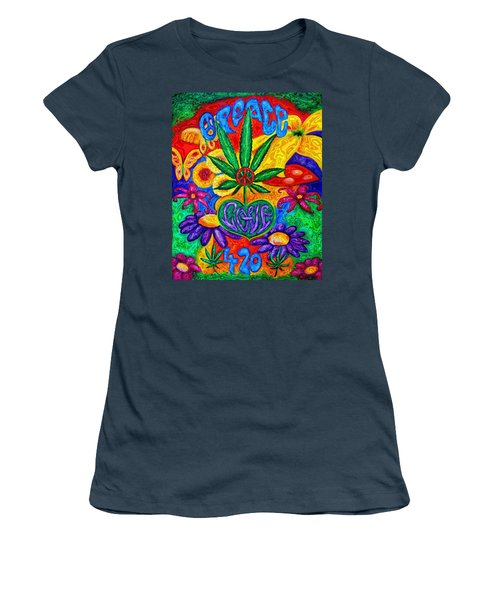 Love And Peace Women's T-Shirt (Junior Cut) by Diana Haronis