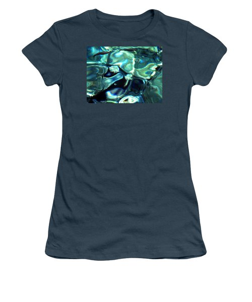 Women's T-Shirt (Junior Cut) featuring the photograph Ocean Water by Colette V Hera  Guggenheim
