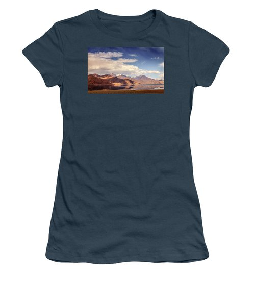 Women's T-Shirt (Junior Cut) featuring the photograph Pangong Tso Lake by Alexey Stiop