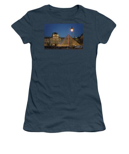 Louvre Museum At Twilight Women's T-Shirt (Junior Cut) by Juli Scalzi