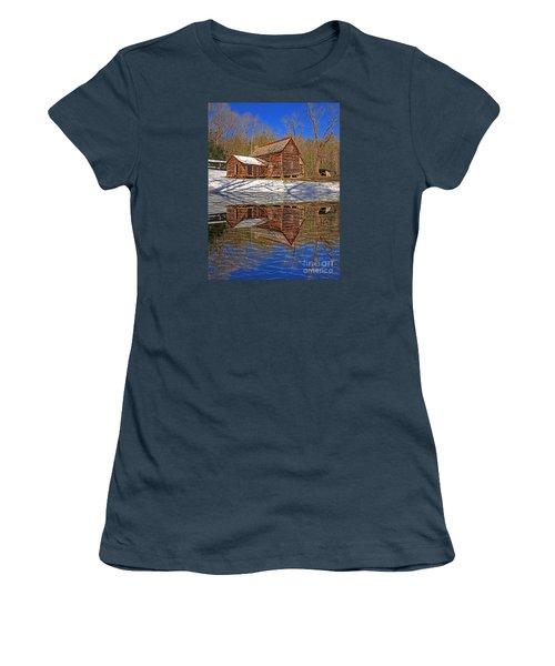 Women's T-Shirt (Junior Cut) featuring the photograph Reflections by Geraldine DeBoer