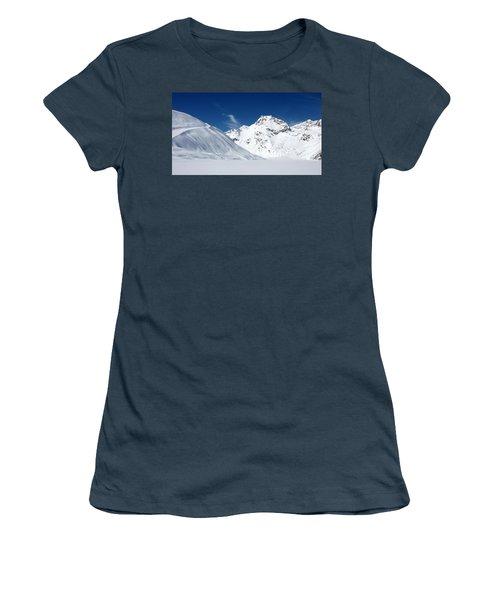 Women's T-Shirt (Junior Cut) featuring the photograph Rifflsee by Christian Zesewitz