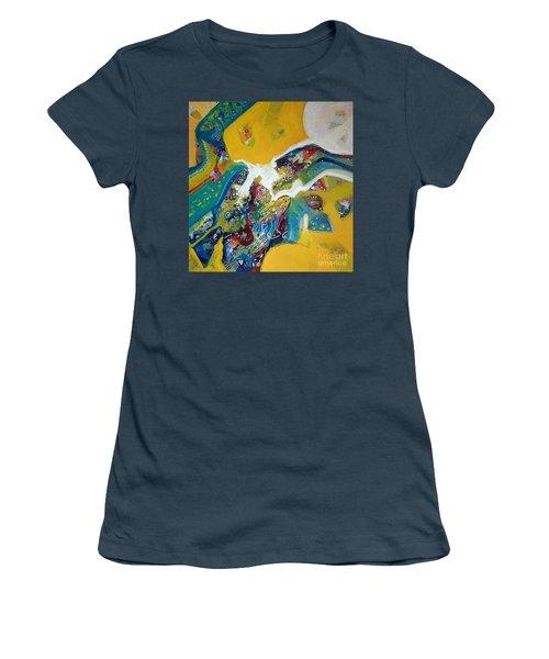 Yellow Harmony Women's T-Shirt (Junior Cut) by Sanjay Punekar