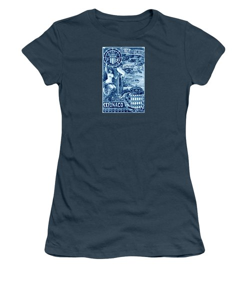 Women's T-Shirt (Junior Cut) featuring the painting 1912 Monaco Automobile Rally by Historic Image