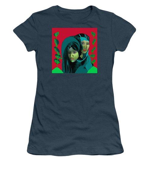 Women's T-Shirt (Junior Cut) featuring the digital art 1976 - Gloom by Irmgard Schoendorf Welch