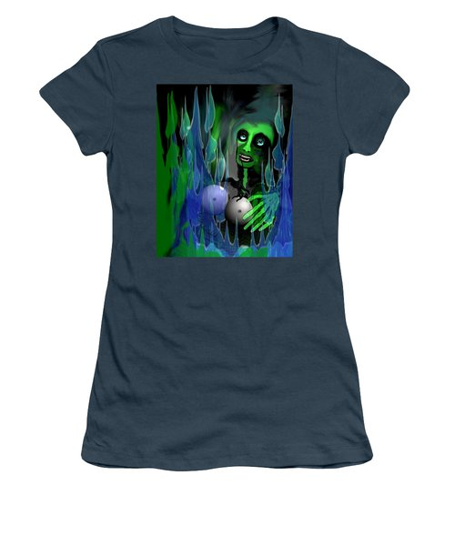 Women's T-Shirt (Junior Cut) featuring the digital art 1981 - But My New Silicon Breasts Will Last Forever 2017 by Irmgard Schoendorf Welch