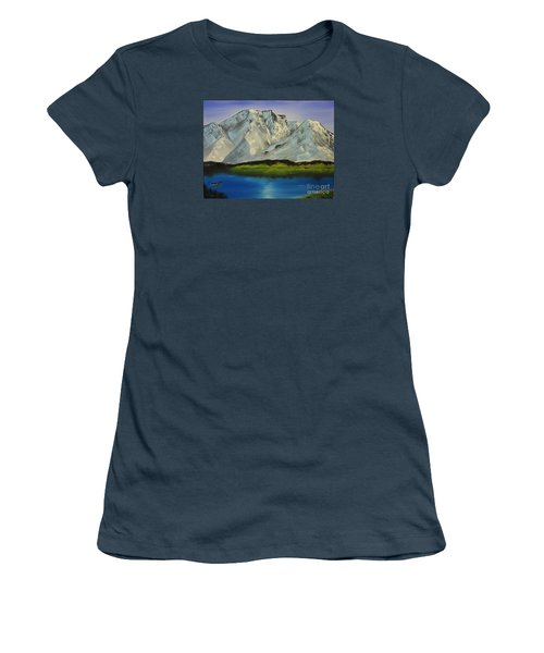 Tranquility Women's T-Shirt (Junior Cut) by Bev Conover
