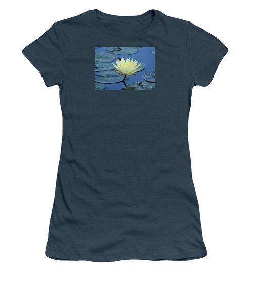 Water Lily Women's T-Shirt (Junior Cut) by Lisa L Silva