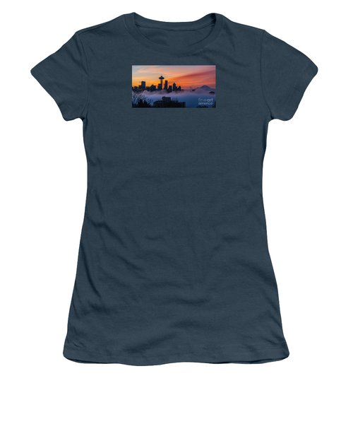 A City Emerges Women's T-Shirt (Junior Cut) by Mike Reid