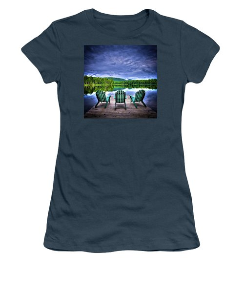 Women's T-Shirt (Junior Cut) featuring the photograph A View Of Serenity by David Patterson