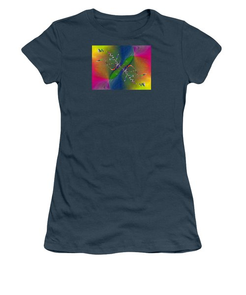 Women's T-Shirt (Junior Cut) featuring the digital art Abstract Cubed 356 by Tim Allen