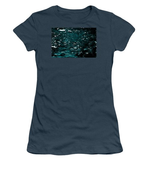 Women's T-Shirt (Junior Cut) featuring the photograph Abstract Green Reflections by Gary Smith