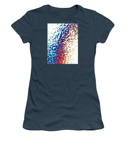 Women's T-Shirt (Junior Cut) featuring the photograph Abstract Photography 002-16 by Mimulux patricia no No