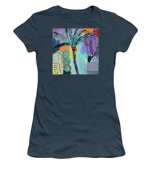 Abtract, Landscape With Palm Tree In California Women's T-Shirt (Junior Cut) by Amara Dacer