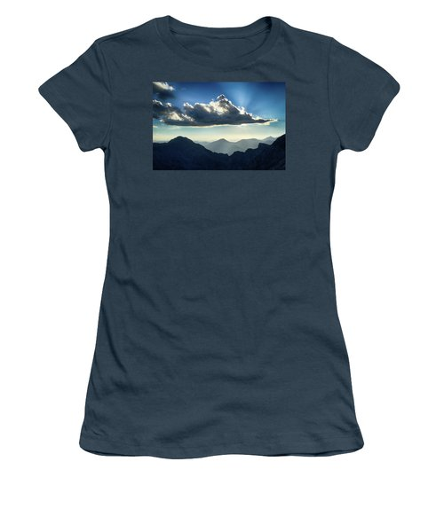 Women's T-Shirt (Junior Cut) featuring the photograph Afternoon Sunburst by Marie Leslie