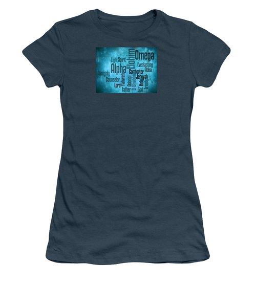Women's T-Shirt (Junior Cut) featuring the digital art Alpha by Angelina Vick