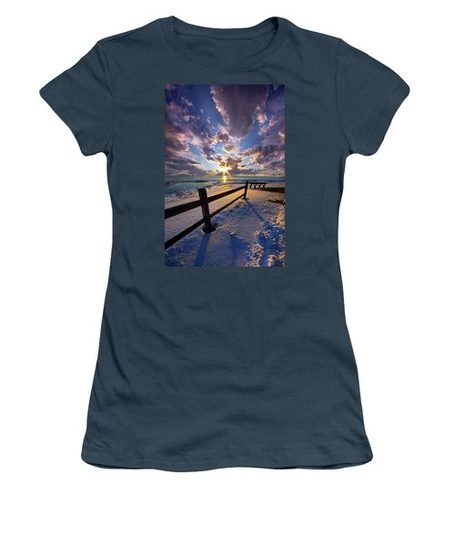 Women's T-Shirt (Junior Cut) featuring the photograph And I Will Give You Rest. by Phil Koch