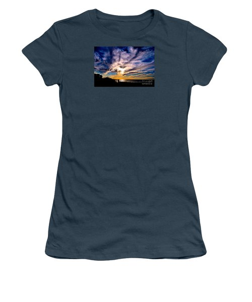 Women's T-Shirt (Junior Cut) featuring the photograph And Then There Was God by Margie Amberge