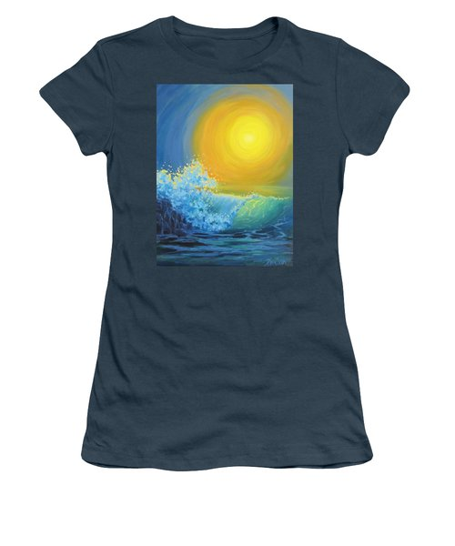 Women's T-Shirt (Junior Cut) featuring the painting Another Sun by Karen Ilari
