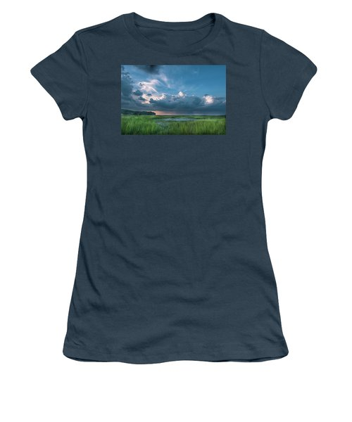 Women's T-Shirt (Junior Cut) featuring the photograph Approaching Storm by Phyllis Peterson